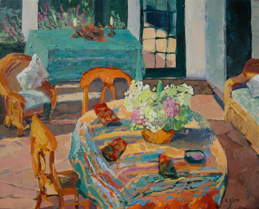 Village Life Paintings Easy Kathleen Elsey paintings Porch
