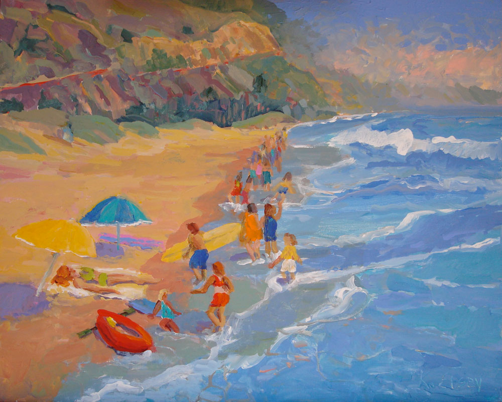 Kathleen Elsey Santa Barbara Artist Painting Videos