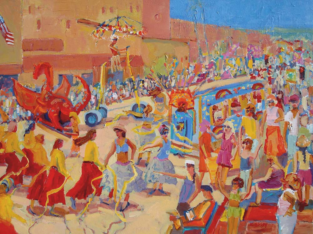 Kathleen Elsey Paintings Santa Barbara Artist Parades