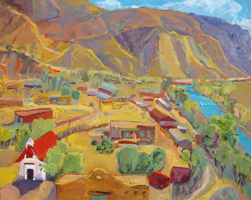 Kathleen Elsey paintings New Mexico paintings, Southwest paintings, Pilar, New Mexico