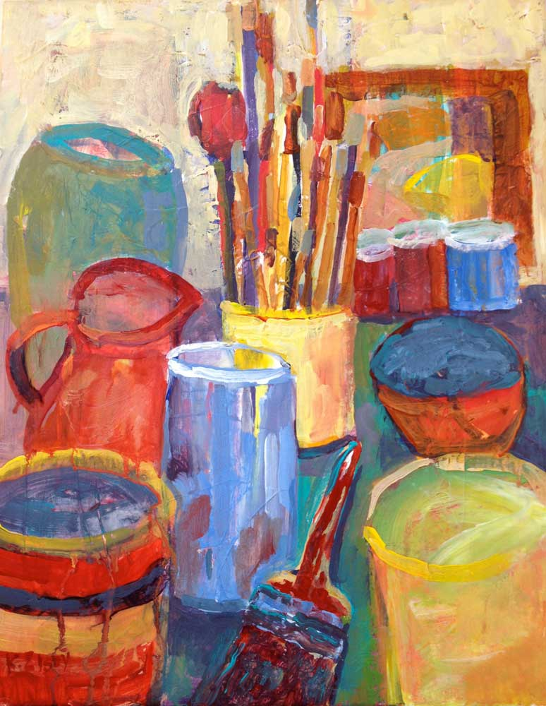 Kathleen Elsey workshop paintings Studio Santa Barbara Artist