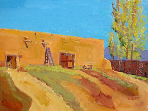 Kathleen Elsey paintings, New Mexico paintings,acienda Martinez