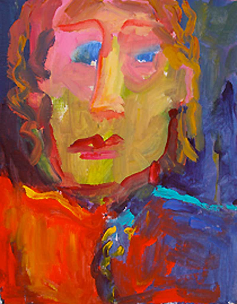 Kathleen Elsey self portrait painting