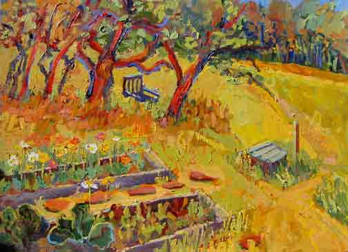 Kathleen Elsey Painting Workshops Paintings Acrylic Kathy's Garden Sonoma
