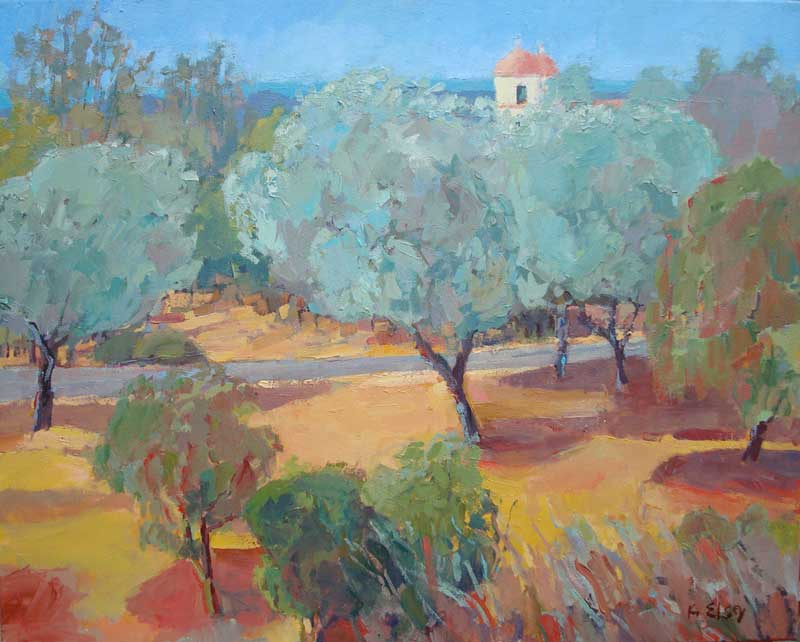 Old Mission with Olive Trees