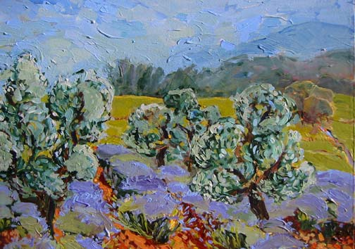 The Olive Grove, Blue Sky