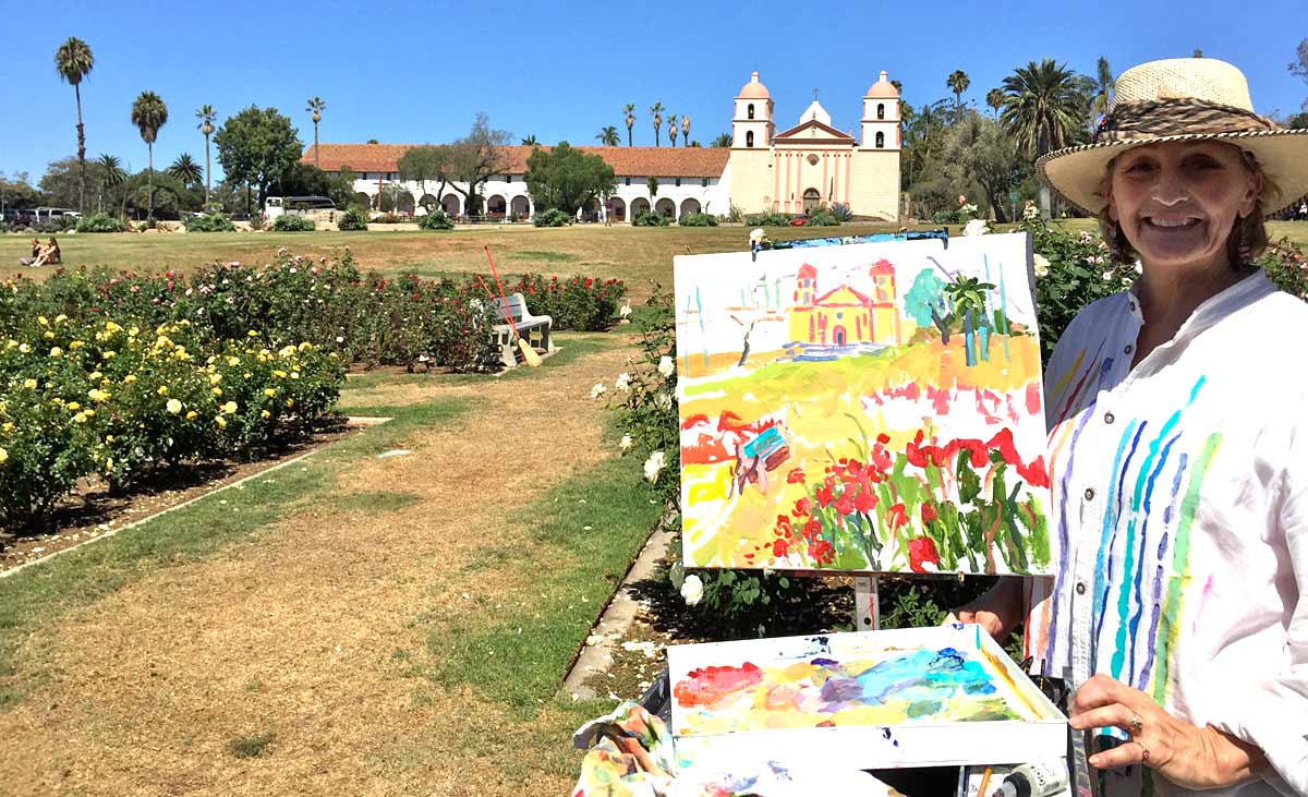 Painting workshop mission Santa Barbara