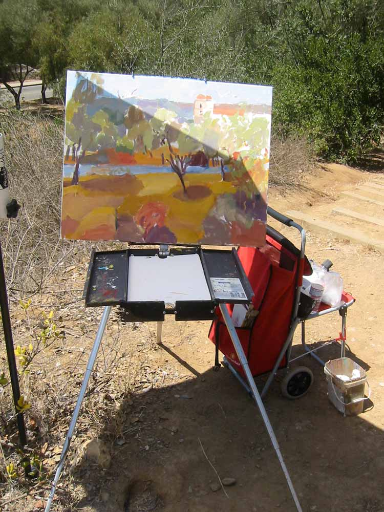 Kathleen Elsey Painting Workshops Santa Barbara Mission