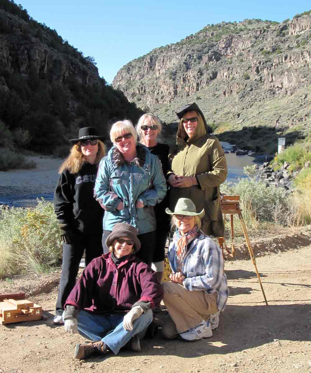 Taos Painting Workshop Kathleen Elsey Rio Grand
