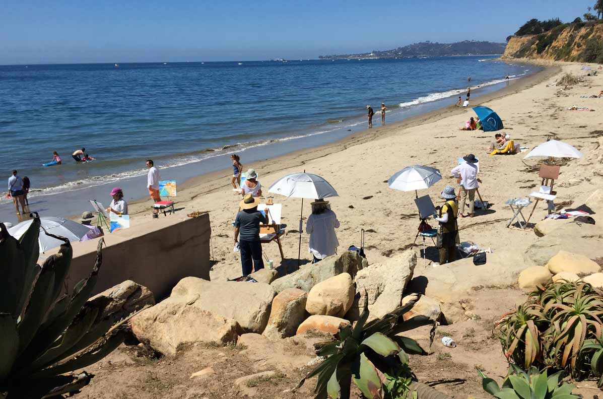beach painting workshop Santa Barbara
